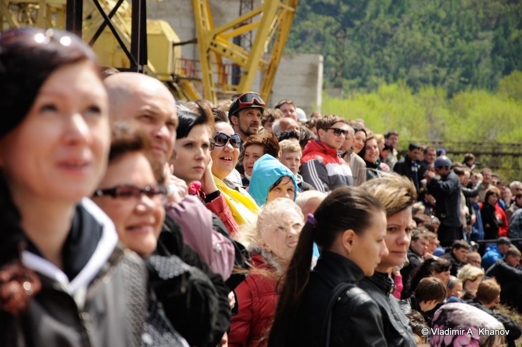 Гости церемонии вывода судна